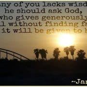 Wisdom Truth James Bible God Devotional