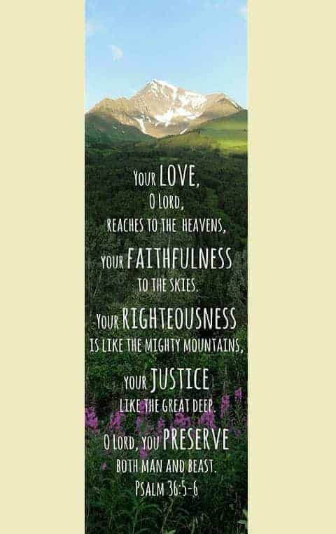 bookmark psalm 36 5-6